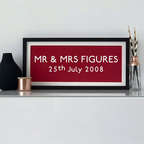 "Personalised ""Mr & Mrs"" Print"