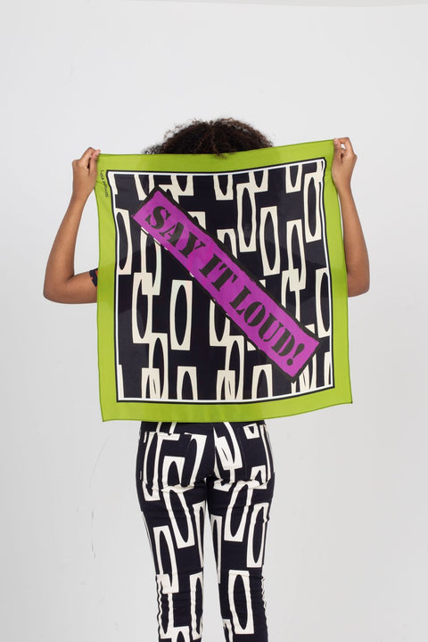 Say It Loud! Silk Scarf | Enitan - Dudu