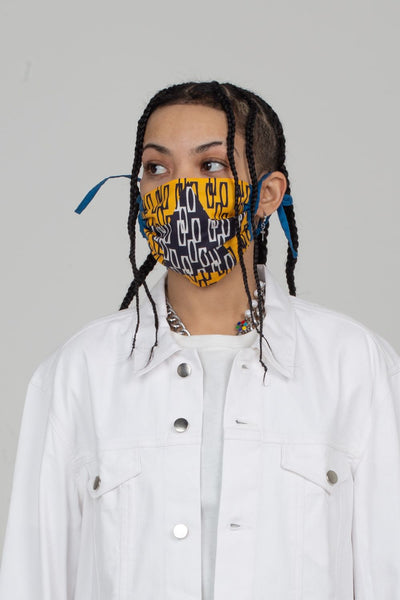Black Star Shirring Face Mask | Enitan - Ofeefee