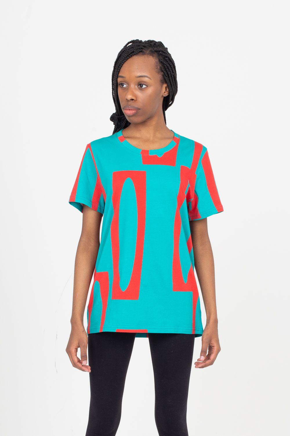 Scoop Neck T-Shirt | Enitan - Turq