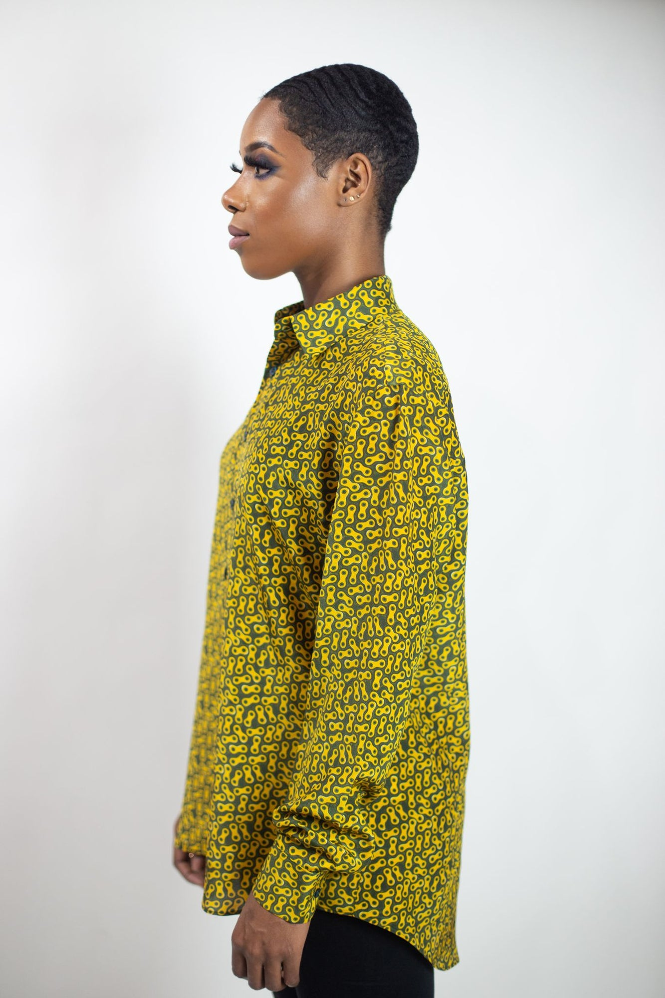 Silk Button-Up Shirt | Dolly Micro - Forest
