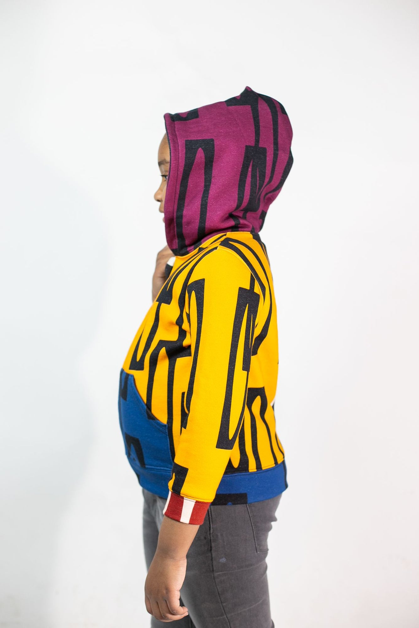 Kid's Color Block Zip-Up Hoodie | Enitan - Bulu