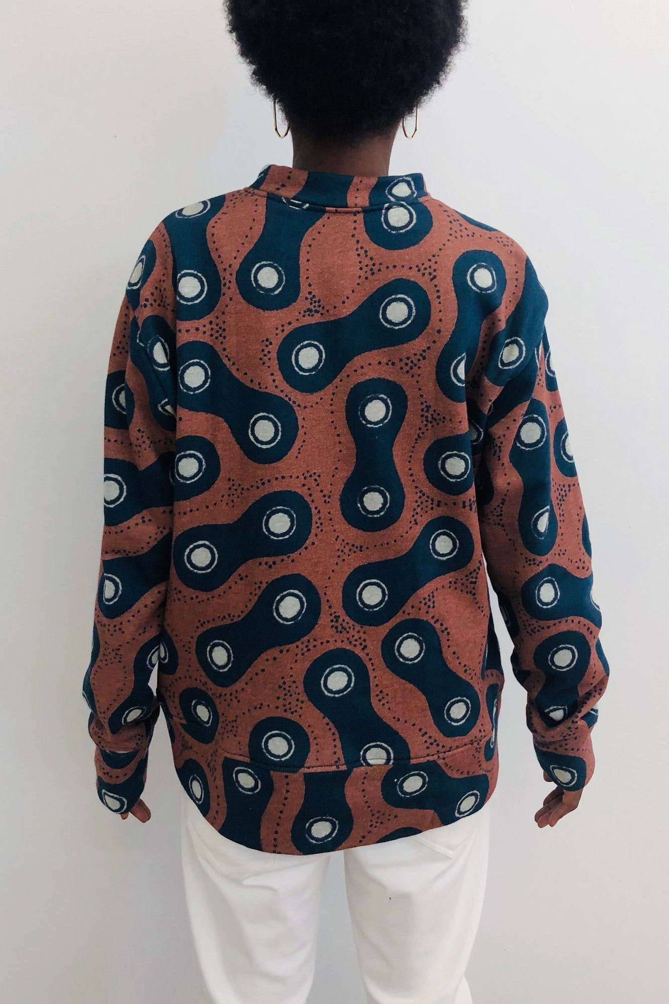 Crew Neck Terry Sweater | Dolly Moon Comb