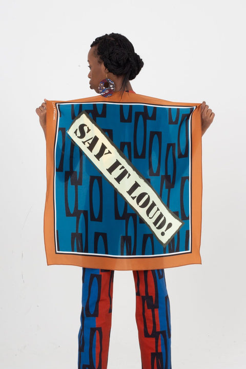 Say It Loud! Silk Scarf | Enitan - Bulu