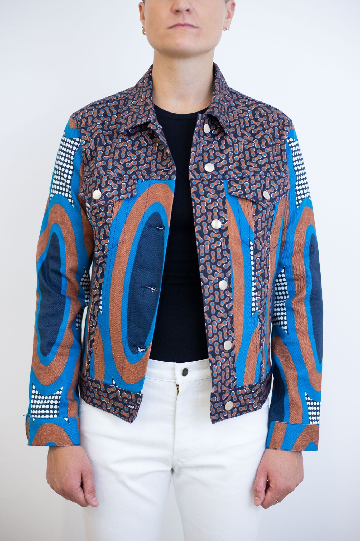 Retro Women's Jean Jacket | Emily Grand - Sky Blue