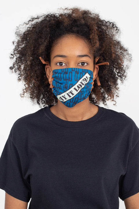 Say It Loud! Shirring Face Mask | Enitan - Bulu