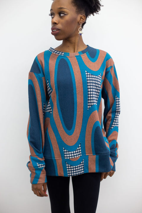 Crew Neck Sweater | Emily Grand Sky Blue