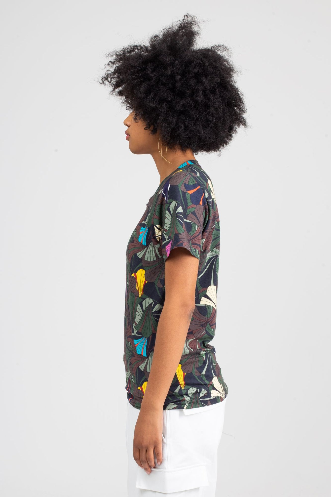 Tropical Camou T-Shirt | Forest Flowers