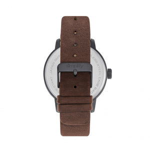 Simplify The 2500 Leather-Band Men's Watch w/ Date - Plum - SIM2503