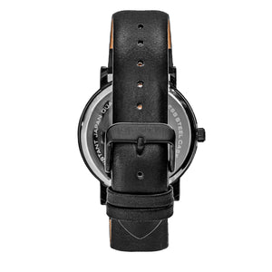 Simplify The 7000 Leather-Band Watch - Black - SIM7004