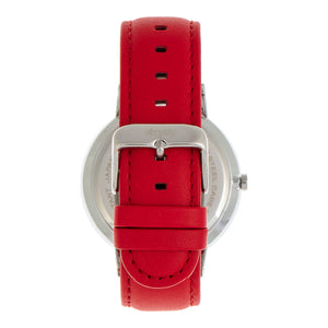 Simplify The 6500 Leather-Band Watch - Red/Black - SIM6503