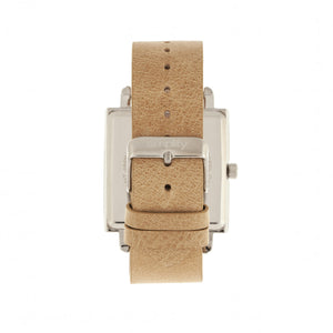Simplify The 5000 Leather-Band Watch - Khaki/White - SIM5005