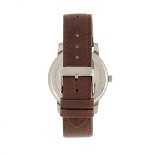 Simplify The 4700 Leather-Band Watch w/Date - Silver/Brown - SIM4703