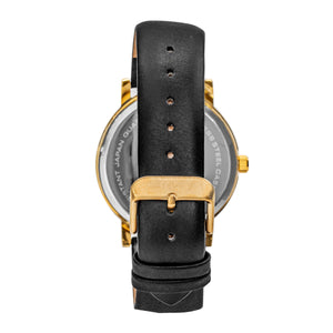 Simplify The 7000 Leather-Band Watch - Gold/Black - SIM7002
