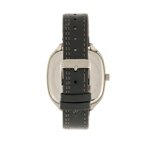 Simplify The 3500 Leather-Band Watch - Silver/Charcoal - SIM3502