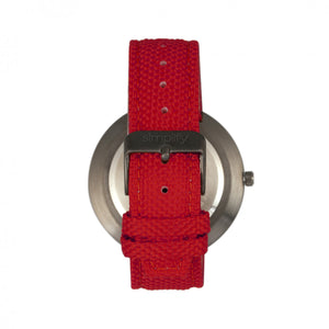 Simplify The 6100 Canvas-Overlaid Strap Watch w/ Day/Date - Black/Red - SIM6105