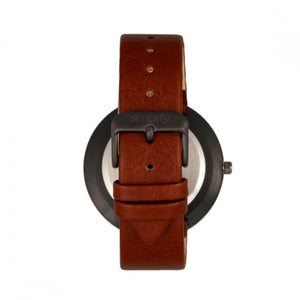 Simplify The 6000 Strap Watch - Black/Dark Brown - SIM6006