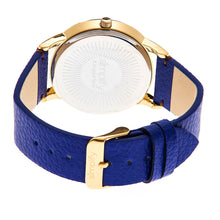Load image into Gallery viewer, Simplify The 2800 Leather-Band Watch - Gold/Blue - SIM2804