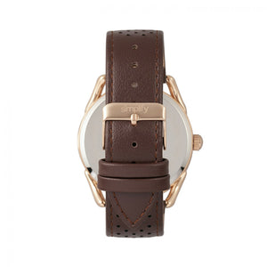 Simplify The 5900 Leather-Band Watch - Rose Gold/Brown - SIM5904