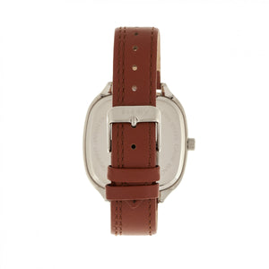 Simplify The 3500 Leather-Band Watch - Silver/Camel - SIM3505