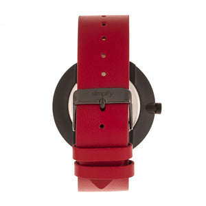 Simplify The 3000 Leather-Band Watch - Red - SIM3002