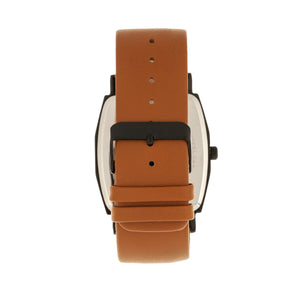 Simplify The 5400 Leather-Band Watch - Orange/Camel  - SIM5406