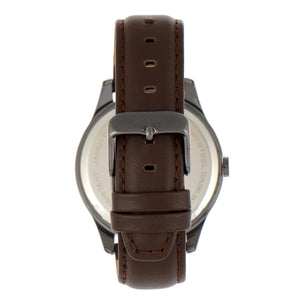 Simplify The 6600 Series Leather-Band Watch - Brown/Black - SIM6603