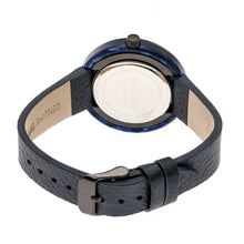 Load image into Gallery viewer, Simplify The 3700 Leather-Band Watch - Black/Navy - SIM3704