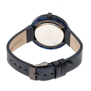 Simplify The 3700 Leather-Band Watch - Black/Navy - SIM3704