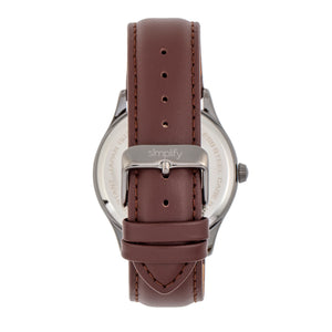 Simplify The 6900 Leather-Band Watch w/ Date - Brown - SIM6905