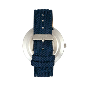 Simplify The 6100 Canvas-Overlaid Strap Watch w/ Day/Date - Blue - SIM6104