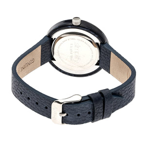 Simplify The 3700 Leather-Band Watch - Navy - SIM3705