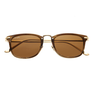 Simplify Foster Polarized Sunglasses - Brown/Brown - SSU107-BN