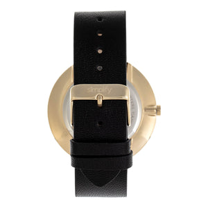 Simplify The 6400 Leather-Band Watch w/Date - Gold/Black - SIM6404