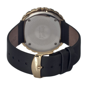 Simplify The 2100 Leather-Band Ladies Watch w/Date - Gold/Black/White - SIM2103