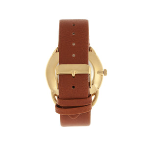 Simplify The 4900 Leather-Band Watch w/Date - Gold/Camel - SIM4903