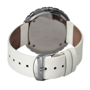 Simplify The 2100 Leather-Band Ladies Watch w/Date - Silver/White - SIM2101