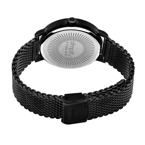 Simplify The 3200 Mesh-Bracelet Watch - Black/Orange - SIM3207