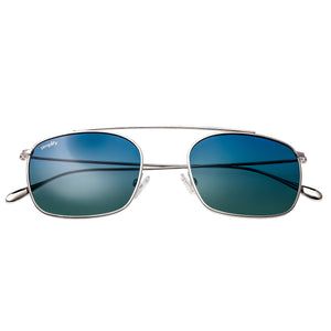 Simplify Collins Polarized Sunglasses - Silver/Blue-Green - SSU104-SR