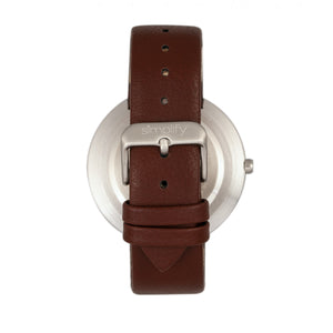 Simplify The 6000 Strap Watch - Silver/Brown - SIM6001