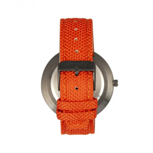 Simplify The 6100 Canvas-Overlaid Strap Watch w/ Day/Date - Orange - SIM6106