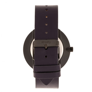 Simplify The 3000 Leather-Band Watch - Plum - SIM3006