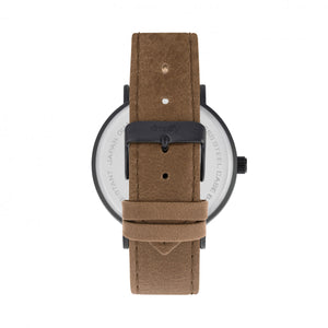 Simplify The 2900 Leather-Band Watch - Black/Brown - SIM2905