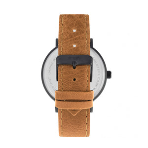 Simplify The 2900 Leather-Band Watch - Black/Orange - SIM2907