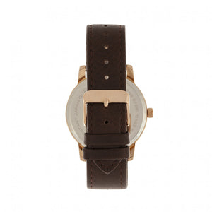 Simplify The 4700 Leather-Band Watch w/Date - Rose Gold/Dark Brown - SIM4705