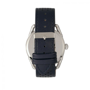 Simplify The 5900 Leather-Band Watch - Silver/Blue - SIM5901