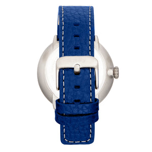 Simplify The 7100 Leather-Band Watch w/Date - Blue - SIM7104