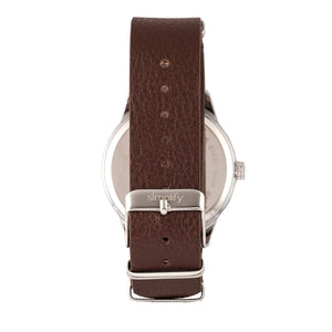 Simplify The 5600 Leather-Band Watch - Black/Brown - SIM5603