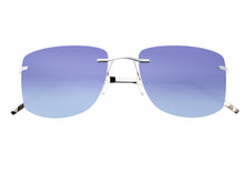 Load image into Gallery viewer, Simplify Benoit Polarized Sunglasses - Silver/Blue - SSU110-SL