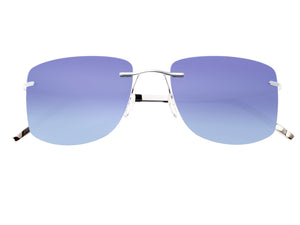 Simplify Benoit Polarized Sunglasses - Silver/Blue - SSU110-SL